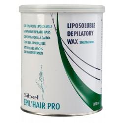 Pot de cire tiède verte peaux sensibles 800g