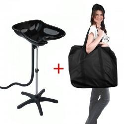 Lave tête portable compact + sac de transport