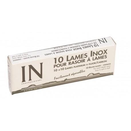 Paquet de 10 lames doubles pour rasoir interchangeable