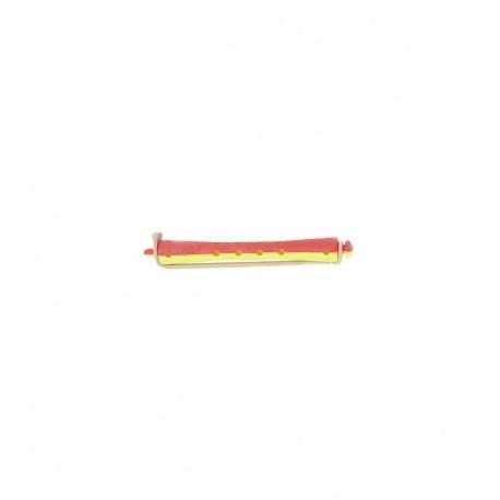 Bigoudis à permanente long jaune-rouge x12
