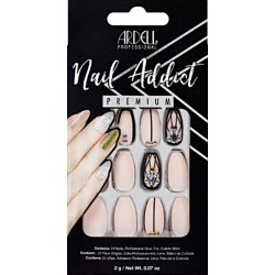 FAUX ONGLES BLUSH GEOMTRIC CRYSTALS