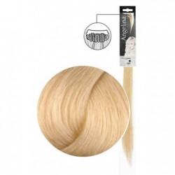Extension 1 clip cheveux naturels blond platine naturel doré