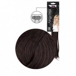 Extension 3 clips cheveux naturels châtain foncé