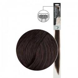 Extension 1 clip cheveux naturels châtain foncé