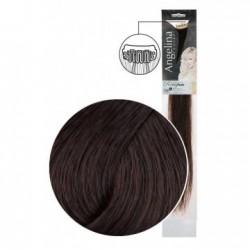 Extension 2 clips cheveux naturels châtain foncé