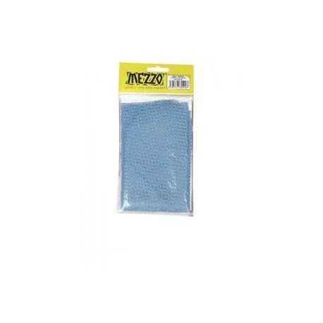 Voilette à mis en plis bleue