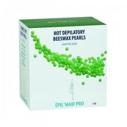 Perles de cire chaude vertepour peaux sensibles 1kg
