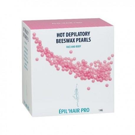 Perles de cire chaude rose visage et corps 1kg