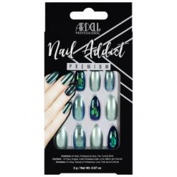 Set 24 faux ongles holo amandes